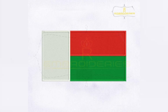 Madagascar Flag Africa Embroidery Design By RoyalEmbroideries