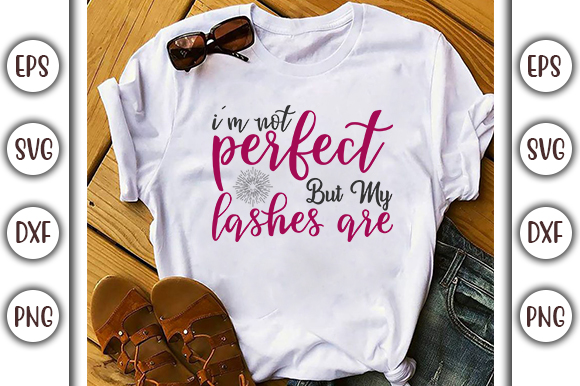 Download Free Makeup Design I M Not Perfect Graphic By Graphicsbooth for Cricut Explore, Silhouette and other cutting machines.