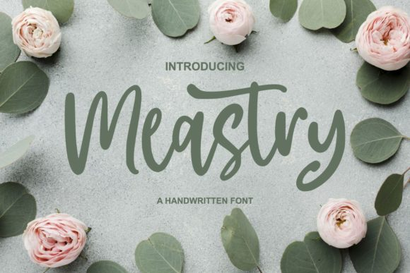 Print on Demand: Meastry Script & Handwritten Font By goodjavastudio