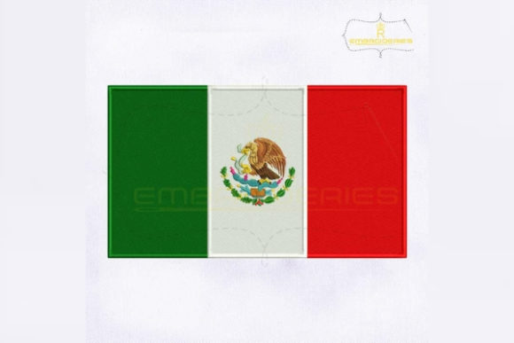 Mexico Flag North America Embroidery Design By RoyalEmbroideries
