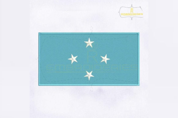 Micronesia Flag Asia Embroidery Design By RoyalEmbroideries