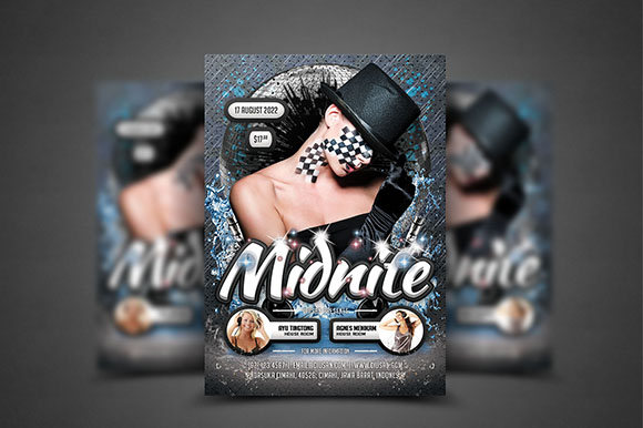 Download Free Midnite Flyer Template Graphic By Ciusan Creative Fabrica for Cricut Explore, Silhouette and other cutting machines.