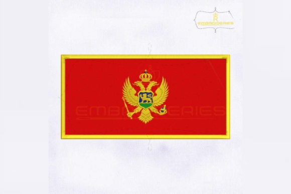 Montenegro Flag Europe Embroidery Design By RoyalEmbroideries