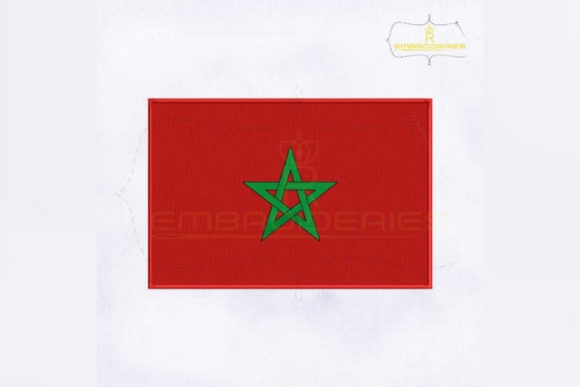 Morocco Flag Africa Embroidery Design By RoyalEmbroideries