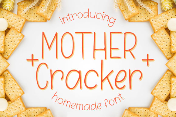 Download Free Mother Cracker Font By Numnim Creative Fabrica for Cricut Explore, Silhouette and other cutting machines.