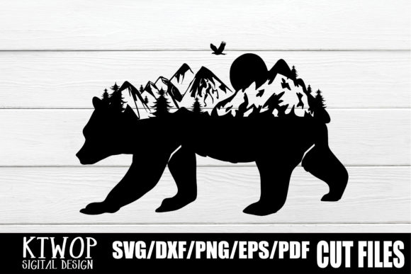 Download Free Nature X Animal Series 2020 Bear Graphic By Ktwop Creative Fabrica for Cricut Explore, Silhouette and other cutting machines.