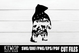 Download Free Nature X Animal Series 2020 Bear Standing Graphic By Ktwop for Cricut Explore, Silhouette and other cutting machines.