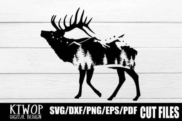 Download Free Nature X Animal Series 2020 Moose Graphic By Ktwop Creative for Cricut Explore, Silhouette and other cutting machines.