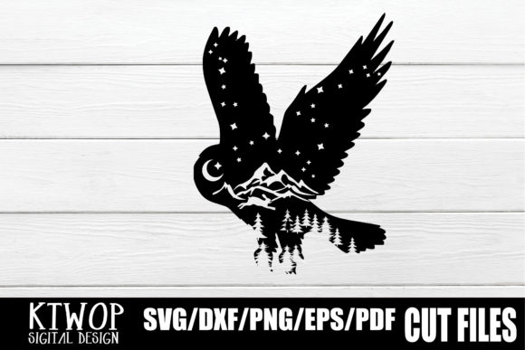 Print on Demand: Nature X Animal Series 2020 Owl Grafik Plotterdateien von KtwoP