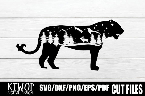 Print on Demand: Nature X Animal Series 2020 Panther Grafik Plotterdateien von KtwoP