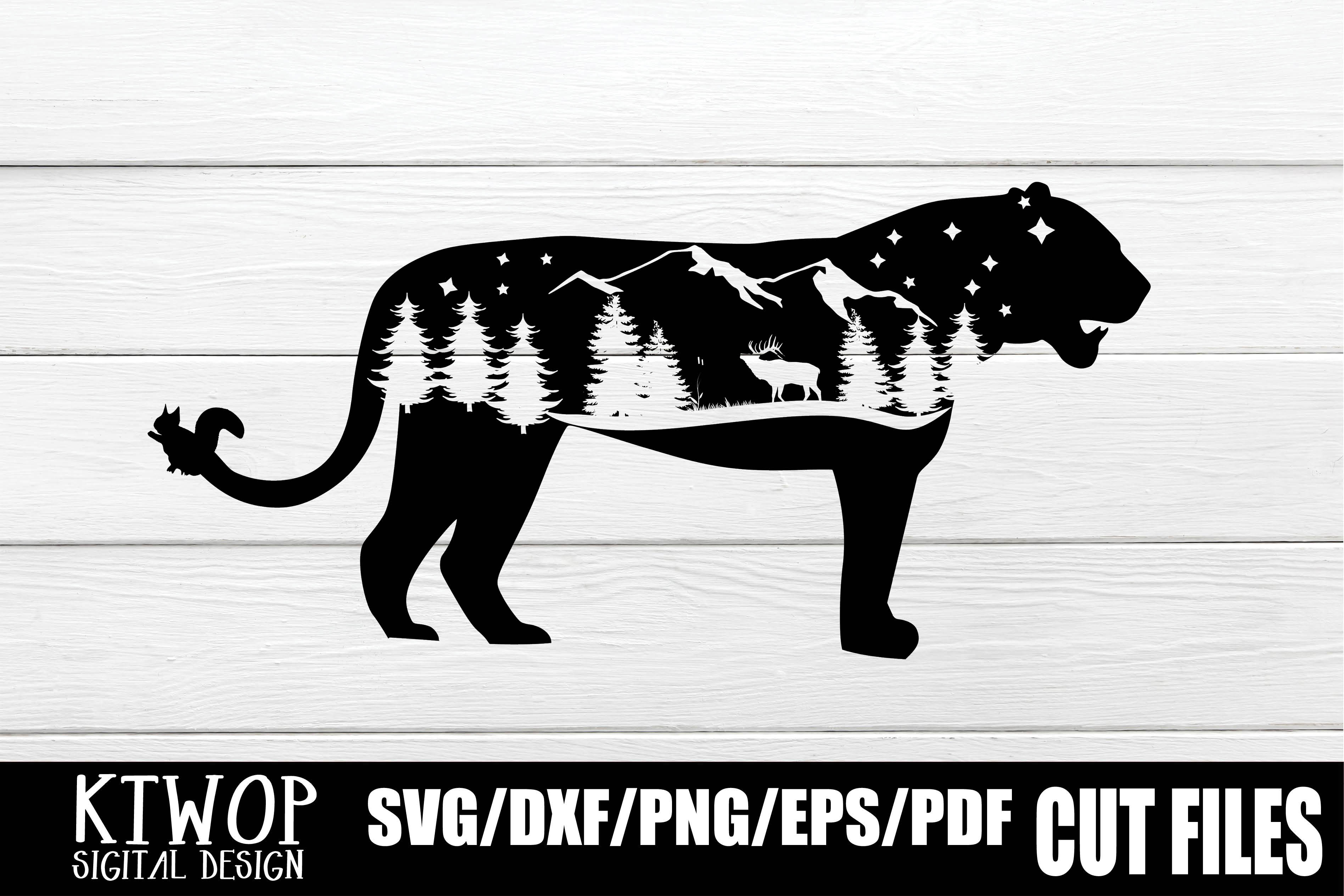 Download Free Nature X Animal Series 2020 Panther Graphic By Ktwop Creative for Cricut Explore, Silhouette and other cutting machines.