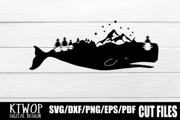 Download Free Nature X Animal Series 2020 Whale Graphic By Ktwop Creative for Cricut Explore, Silhouette and other cutting machines.