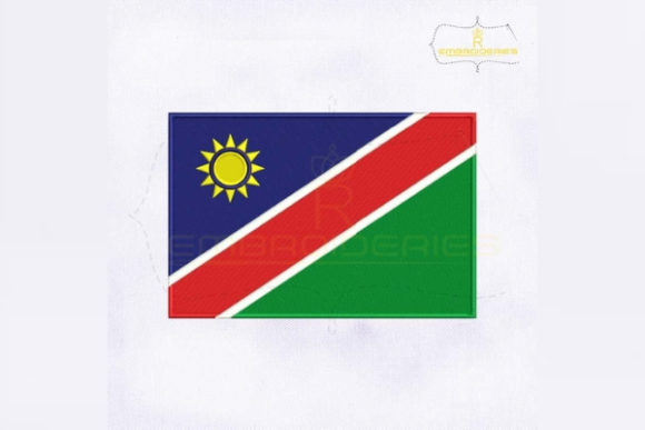 Namibia Flag Africa Embroidery Design By RoyalEmbroideries
