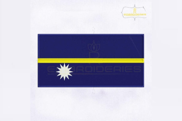 Nauru Flag Asia Embroidery Design By RoyalEmbroideries