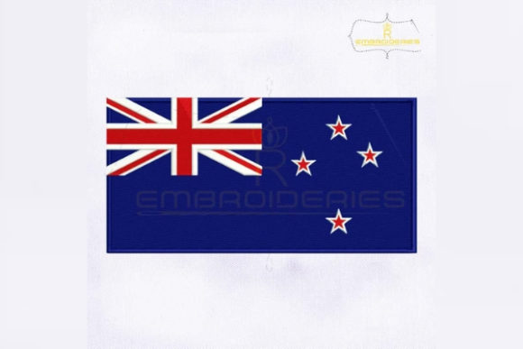 New Zealand Flag Asia Embroidery Design By RoyalEmbroideries