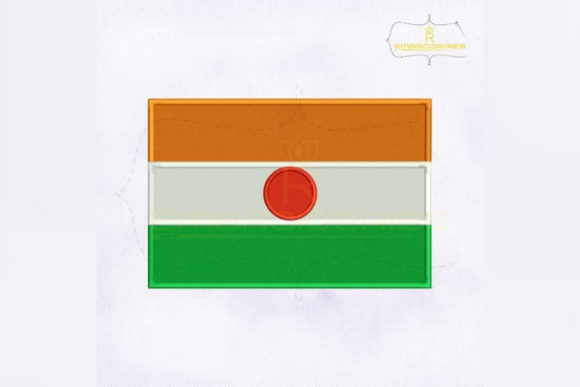 Niger Flag Africa Embroidery Design By RoyalEmbroideries