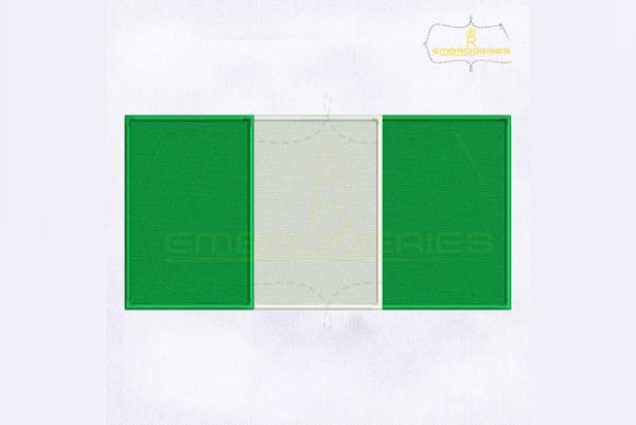 Nigeria Flag Africa Embroidery Design By RoyalEmbroideries