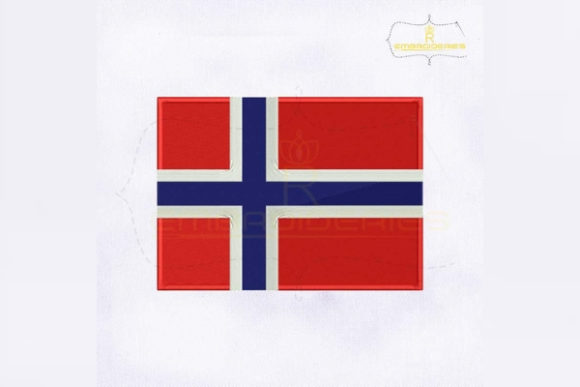 Norway Flag Europe Embroidery Design By RoyalEmbroideries