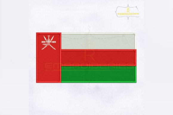 Oman Flag Asia Embroidery Design By RoyalEmbroideries