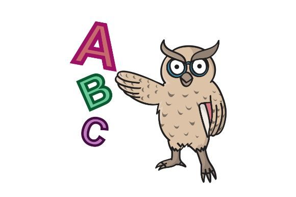 Download Free Owl Kindergarten Learning Graphic By Firdausm601 Creative Fabrica for Cricut Explore, Silhouette and other cutting machines.