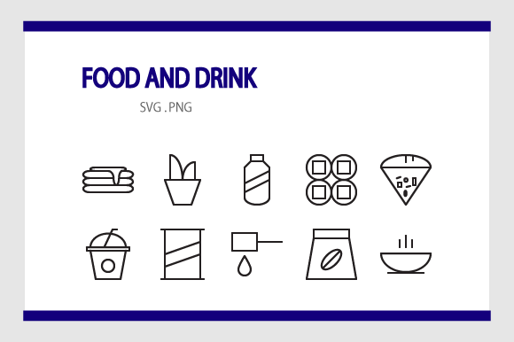 Download Free Paket Icon Food And Drink Graphic By Rheinata Creative for Cricut Explore, Silhouette and other cutting machines.