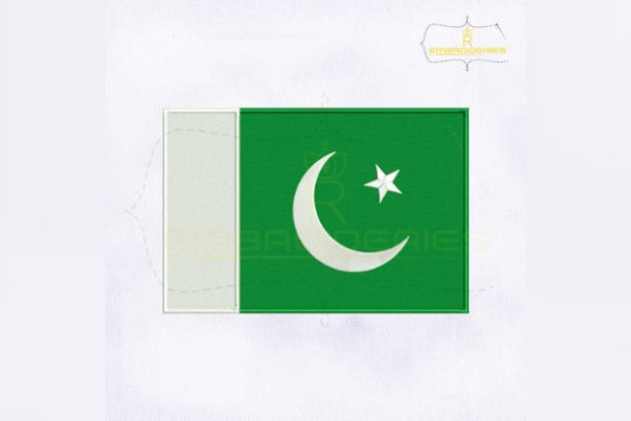 Pakistan Flag Asia Embroidery Design By RoyalEmbroideries