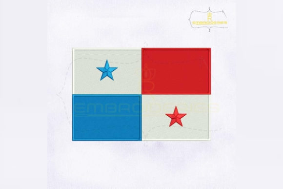 Panama Flag North America Embroidery Design By RoyalEmbroideries