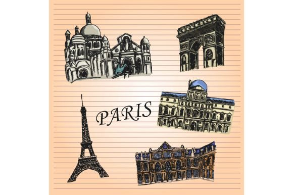 Download Free Paris Notebook Sketch Art Graphic By Firdausm601 Creative Fabrica for Cricut Explore, Silhouette and other cutting machines.