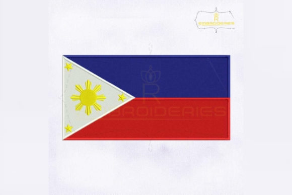 Philippines Flag Asia Embroidery Design By RoyalEmbroideries