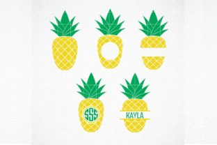 Download Free Pineapple Monogram Graphic By Svg Den Creative Fabrica for Cricut Explore, Silhouette and other cutting machines.