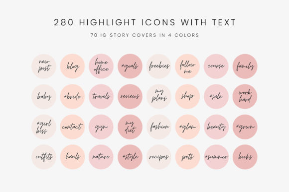 Download Free Pink And Peach Ig Story Highlight Icons Graphic By Stylishdesign SVG Cut Files