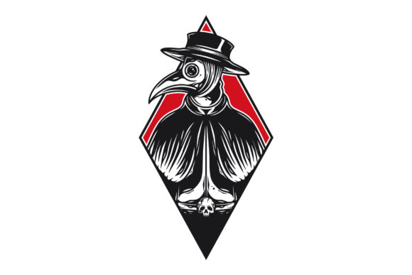 Download Free Plague Doctor Vintage Vector Tattoo Art Graphic By Vectorwithin for Cricut Explore, Silhouette and other cutting machines.