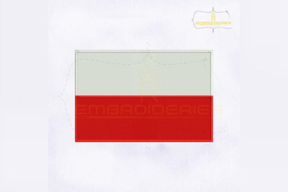 Poland Flag Europe Embroidery Design By RoyalEmbroideries