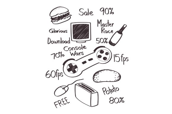 Download Free Poor Gamer Lifestyle Graphic By Firdausm601 Creative Fabrica for Cricut Explore, Silhouette and other cutting machines.