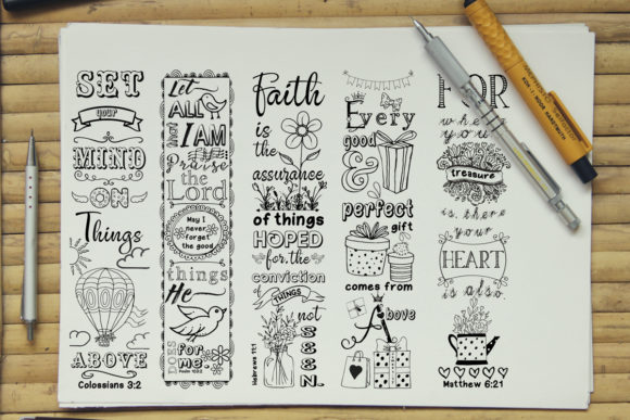 Printable Colouring Bookmark Set #1 Graphic Coloring Pages & Books Adults By Words Count Designs