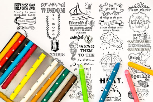 Download Free Printable Colouring Bookmarks Set 3 Graphic By Words Count Designs Creative Fabrica for Cricut Explore, Silhouette and other cutting machines.