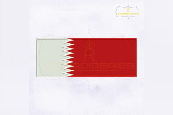 Qatar Flag Asia Embroidery Design By RoyalEmbroideries