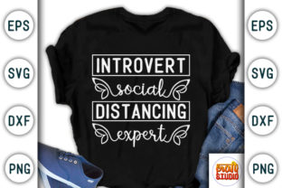 Print on Demand: Quarantine Design, Introvert Social Graphic Print Templates By CraftStudio