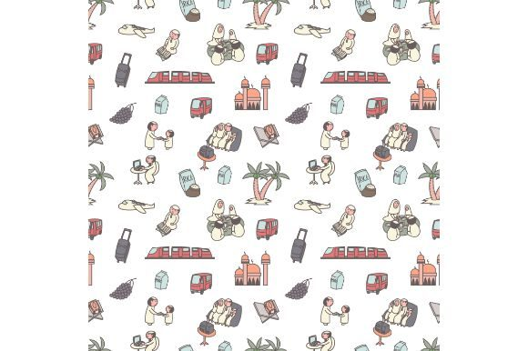 Print on Demand: Ramadan Seamless Pattern, Cartoon Doodle Gráfico Iconos Por firdausm601