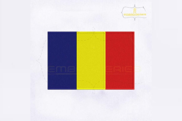Romania Flag Europe Embroidery Design By RoyalEmbroideries