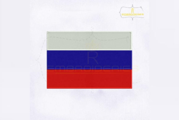 Russia Flag Asia Embroidery Design By RoyalEmbroideries
