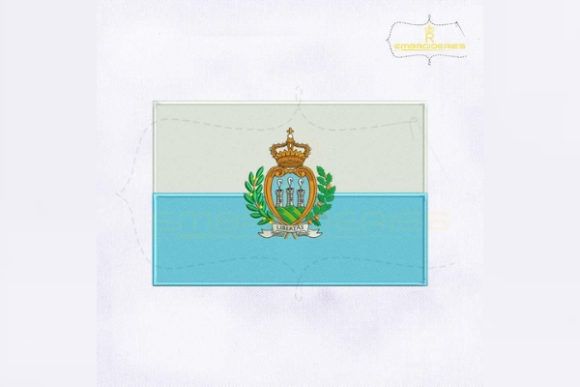 San Marino Flag Europe Embroidery Design By RoyalEmbroideries
