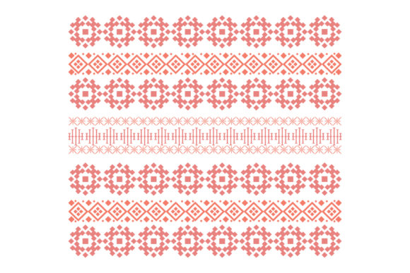 Download Free Seamless And Cute Embroidered Design Graphic By Stockfloral for Cricut Explore, Silhouette and other cutting machines.