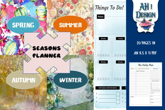 Download Free Seasons Printable Daily Weekly Planner Graphic By Ahdesign Creative Fabrica for Cricut Explore, Silhouette and other cutting machines.