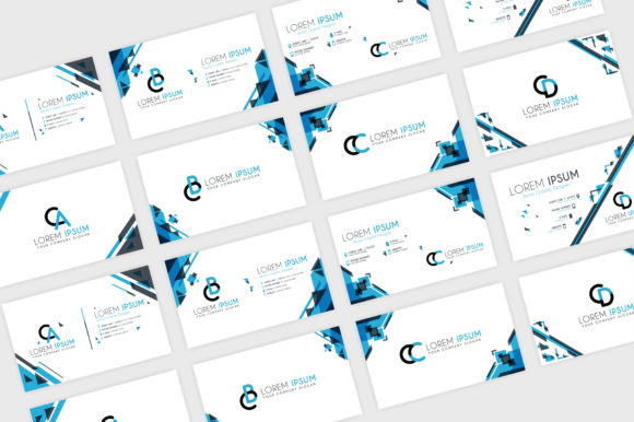 Download Free Simple Blue Business Card Template Graphic By Setiawanarief111 for Cricut Explore, Silhouette and other cutting machines.