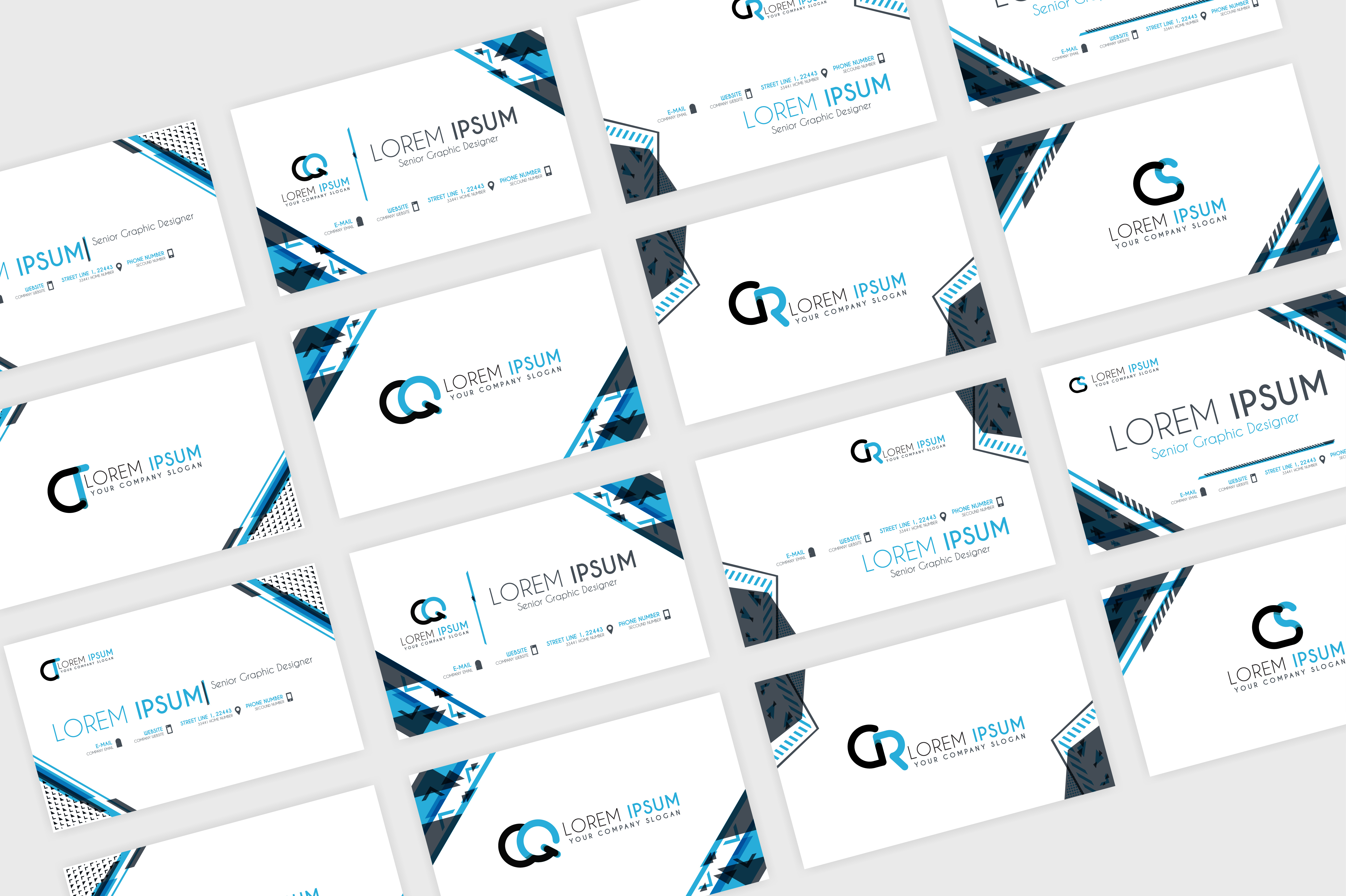 Simple Blue Business Card Template Graphic By Setiawanarief111 Creative Fabrica