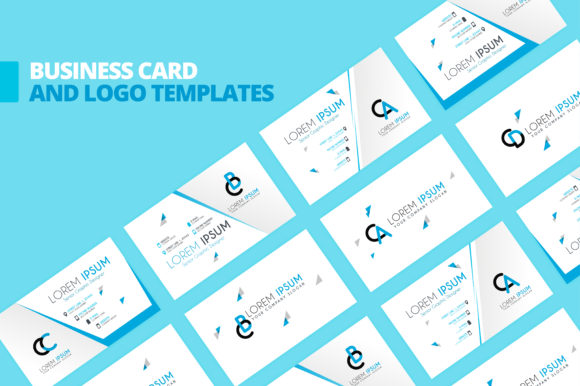 Simple Blue Business Card Template Graphic By Setiawanarief111