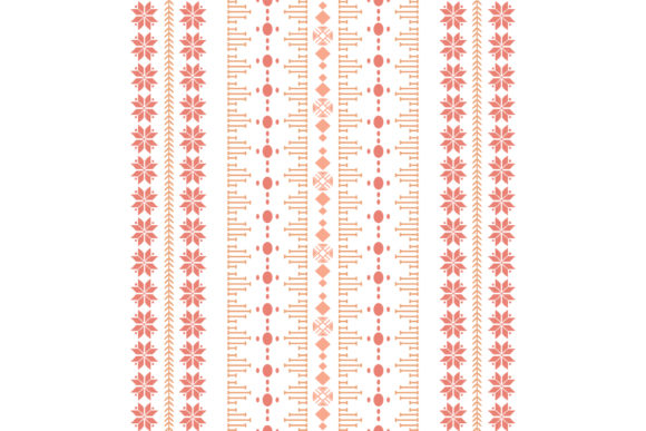 Simple Floral Embroidery Style Graphic Backgrounds By stockfloral