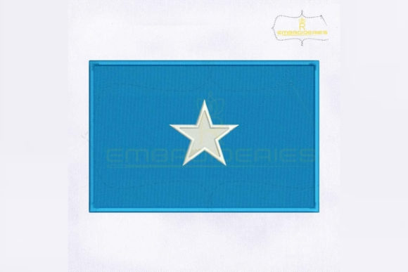 Somalia Flag Africa Embroidery Design By RoyalEmbroideries