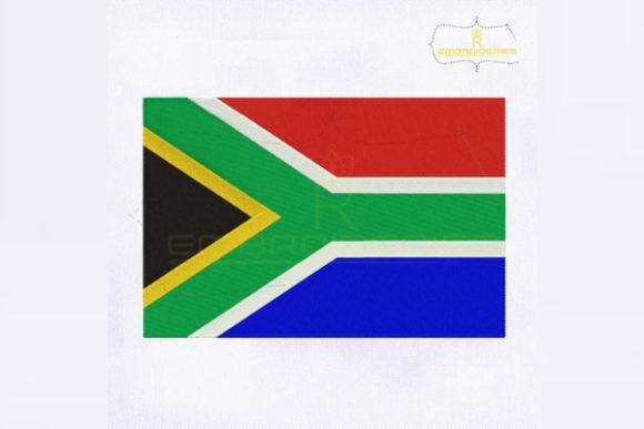 South Africa Flag Africa Embroidery Design By RoyalEmbroideries